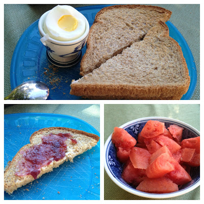 Simple Breakfast: Hard Boiled Egg and Toast