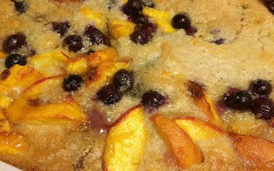 Peach Blueberry Cobbler