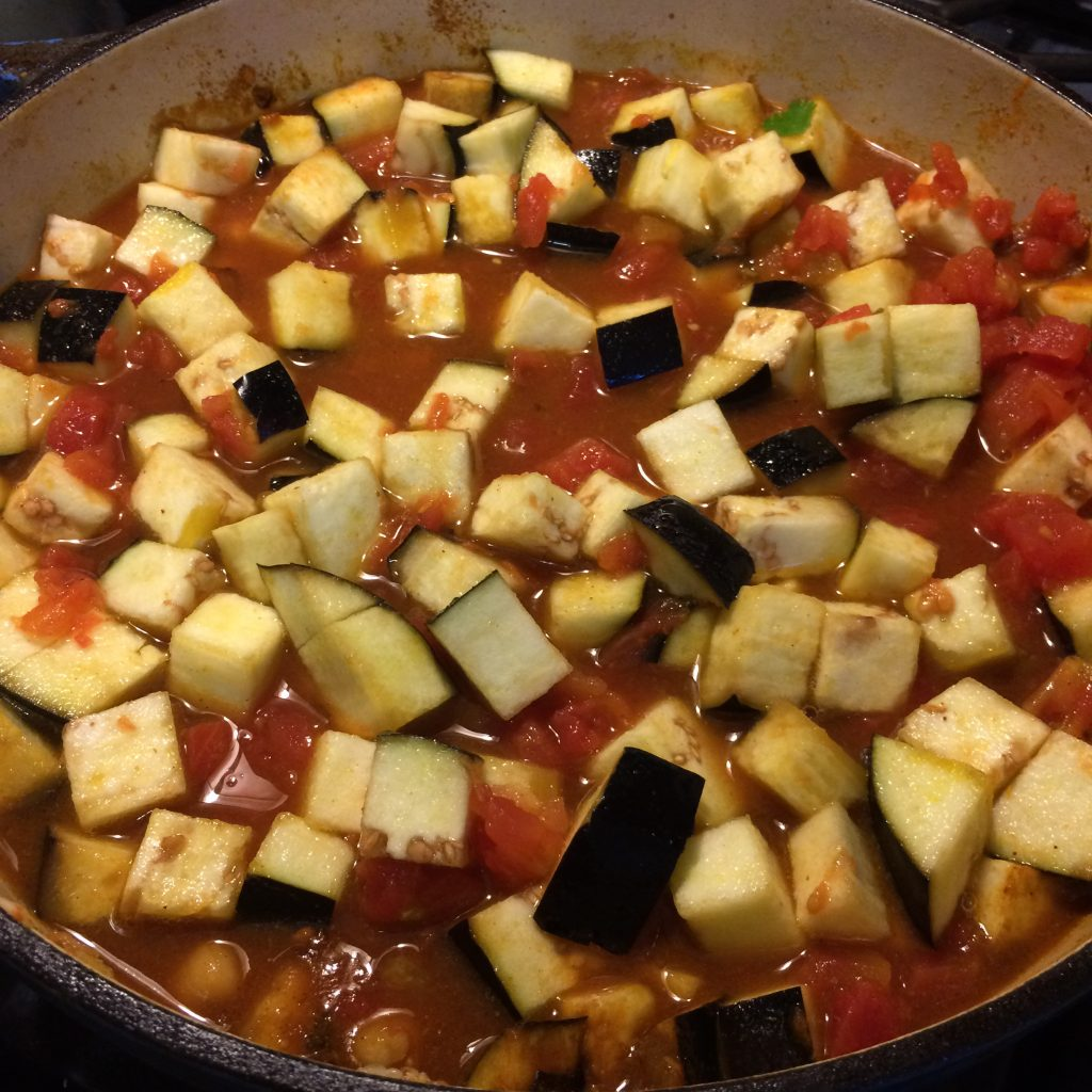 Eggplant Chickpea Curry Ingredients