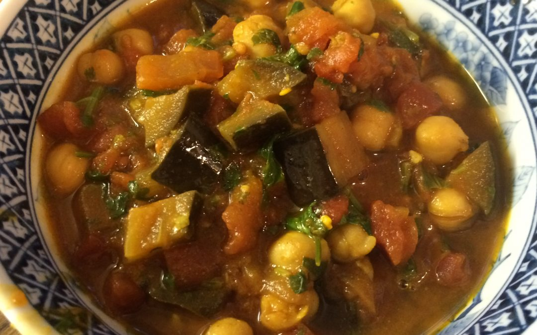 Simple Vegan Eggplant Chickpea Curry