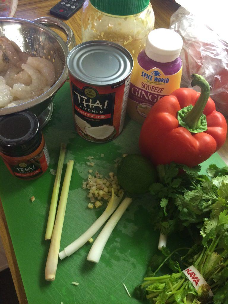 Thai Shrimp Red Curry Ingredients