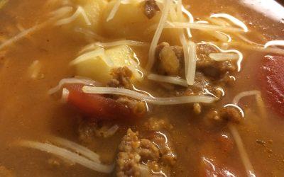 Six Ingredient Sausage Gnocchi Soup