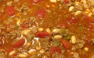 Clear Your Sinuses Spicy Sausage Cannellini Bean Chili