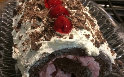 The Ugliest Black Forrest Roll Cake Ever