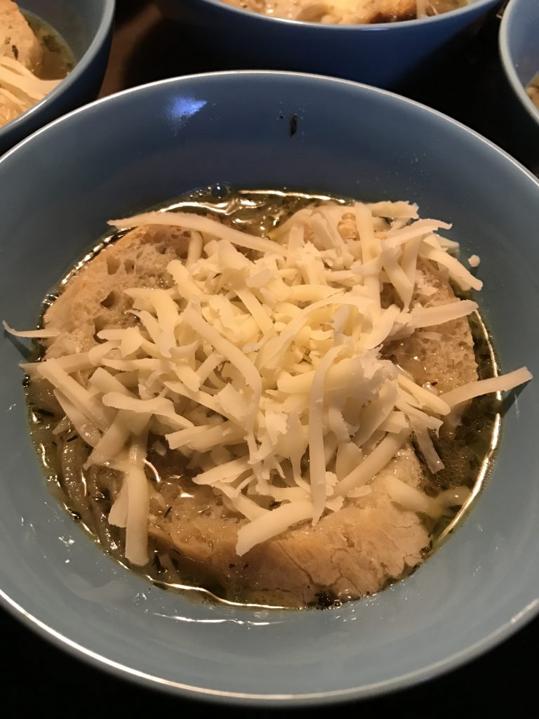 Swiss Cheese for Vegetarian French Onion Soup