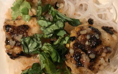 Vietnamese-Style Shrimp Balls over Rice Sticks
