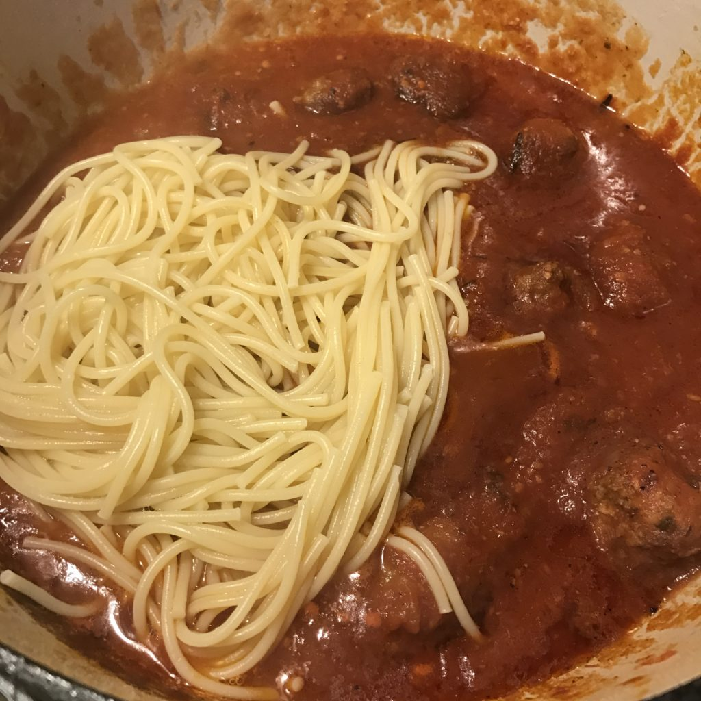 Italian-American Spaghetti and Meatballs