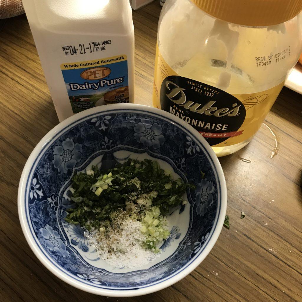 Basil Buttermilk Salad Dressing Ingredients