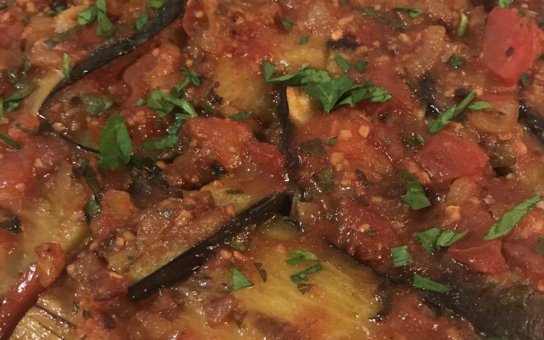 Imam Bayildi Turkish Eggplant Tomato Casserole
