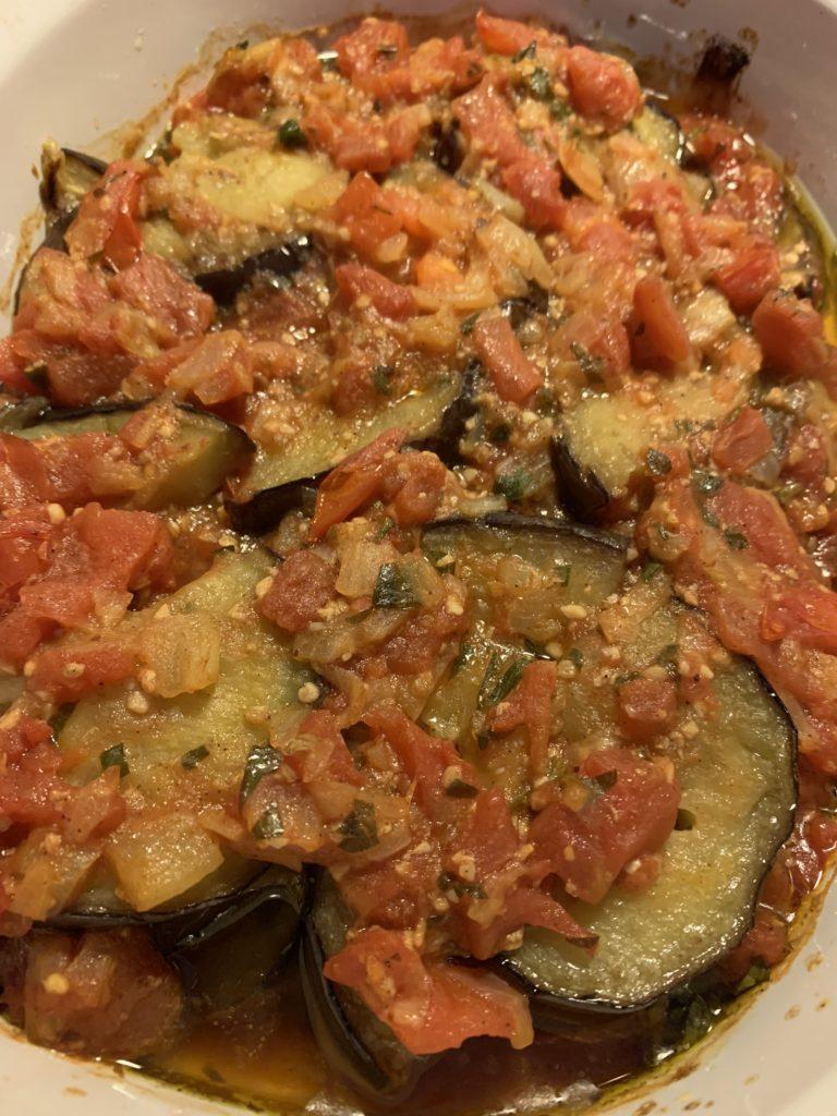 Turkish Eggplant Tomato Casserole